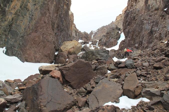 Subiendo la montaña del Tubkal